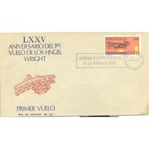 L145-méxico 2 Fdc 1er Día Emisión Lxxv Aniv Hnos Wright-hm4
