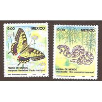 Mexico 1983 Fauna, Mariposa Y Boa