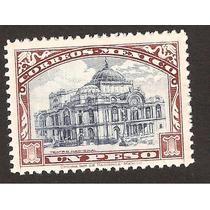 México 1923 Monumento Palacio Bellas Artes $1 Nueva 91 Años¡
