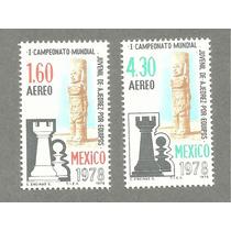 Estampillas Mexicanas Campeonato Ajedrez 1978. Au1