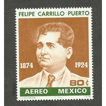 Estampilla Felipe Carrillo Puerto 1974. Nueva