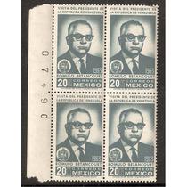Rómulo Betancourt Pdte Venezuela 1963 Block De 4 Cfolio