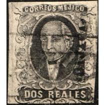 1105 Clásico Hidalgo Scott #8n Oajaca Negro 2 R Usado 1861
