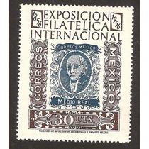 Centnario De La Estampilla En Mexico Exp. Fil 1956