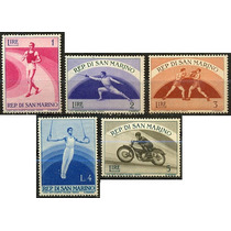 1111 San Marino Olimpiadas 5 Sellos Mint N H 1954