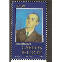 Poeta Carlos Pellicer 1997 Estampilla Nueva