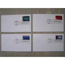U.s.a. Express Mail Y Aereos , Sobres Primer Dia (4) (fdc)