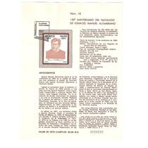 Hoja Primer Día 1984 Ignacio Manuel Altamirano Artista