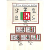 Hoja 75 Aniversario Revolución Mexicana 1985