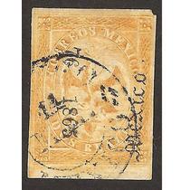 Imperio Mexicano Aguila 1865 Dos Reales Dist Mex 3