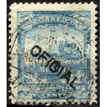 2260 Oficial Mulita 4° E Scott# O47 Celeste 15c Usado 1898