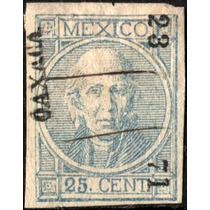 2327 Clásico Con Punto Scott#61 Oaxaca #23 71 25c Usado