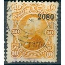 Sc 108 Año 1880 Hidalgo 10 Cent Naranja Dist 20 Puebla