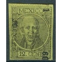Sc 66 Año 1869 Hidalgo Dist 1 Mexico Perforado Con Punto
