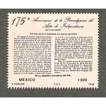 Estampilla 175 Aniv Acta De Independencia 1988