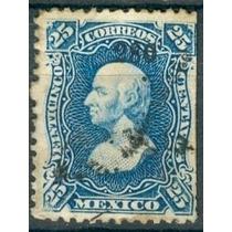 Sc 109 Año 1880 Hidalgo 25 Cent Dist 2 Zacatecas No. Arriba
