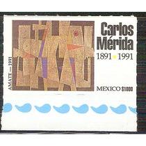 1991 Carlos Mérida Pintor Guatemalteco Muralista Sello Nuevo