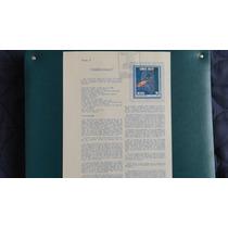Hojilla Filatelia. Cometa Halley 1986