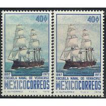 1972 Diferente Color Error Escuela Naval De Veracruz Mnh