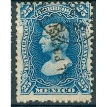 Sc 109 Año 1880 Hidalgo 25 Cent Dist 17 Slp No. Ariba