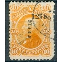 Sc 108 Año 1878 Hidalgo 10 Cent Naranja Dist 12 Tepic