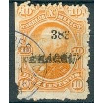 Sc 119 Año 1883 Hidalgo 10 Cent Naranja Dist 3 Veracruz