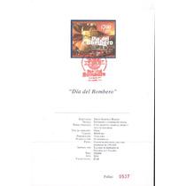 2014 Día Del Bombero Hojilla Filatelica Fdb