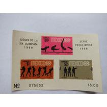 Hojita Souvenir Imperforada Olimpiadas México 68