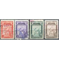 1233 Brtolome De Las Casas Guatemala 4 Piezas Usadas 1949