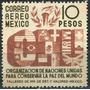 1239 México O N U Aéreo $10 Mint N G 1946