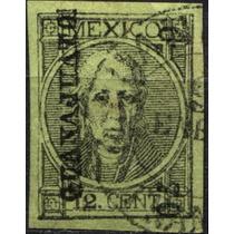 1473 Clásico Hidalgo Scott#59 25c Usado Guanajuato#6 70