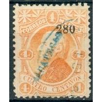 Sc 105 Año 1880 Hidalgo 4c Dist 2 Zacatecas