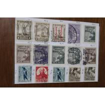 México. 15 Estampillas Impuesto Postal.1925-47