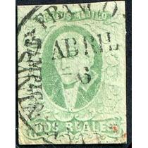 1738 Clásico Scot #3b Tampico Esmeralda 2 Real Usado 1856