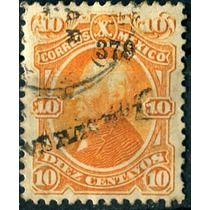 1842 Clásico Hidalgo Scott #108 Veracruz #379 10c Usado 1879