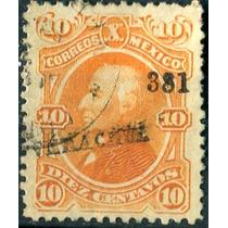 1844 Clásico Hidalgo Scott #108 Veracruz #381 10c Usado 1881