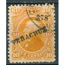 Sc 108 Año 1878 Hidalgo 10 Cent Naranja Dist 3 Veracruz
