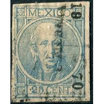 1848 Clásico Hidalgo Con Punto S#66 Mérida #19 70 25c Usado