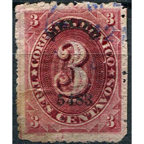 1908 Clasico Numeral Scott #147 México # 5483 3c Usado 1883