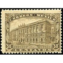 1941 México Monumentos Scott #648 Placa #1 50c Mint N H 1923