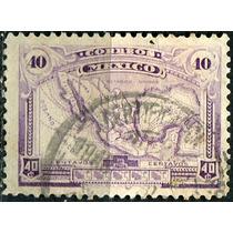 1952 Mapa Méxic Scott #512 P Delgado 40c Usado L H 1915-16
