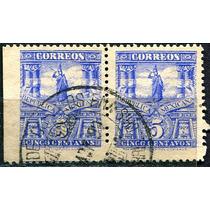 1223 Mulita 4° E Par Sincopado Chiapas 5c Usado 1898