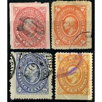 1978 Clásico Hidalgos Scott #166 4 Piezas Usadas 1865
