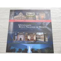 Estampilla 125 Aniversario Del Banco Nacional De Mexico