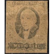 1451 Clasico Hidalgo Sin Sobre Carga 0.5 Real Nuevo 1861
