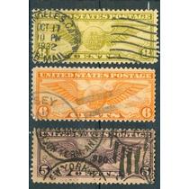 Sc C16,c17,c19 U.s. Año 1931 Gloabo Con Alas
