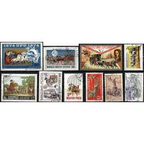 1889 Caballos Dif Países 10 Sellos Usados Modernos