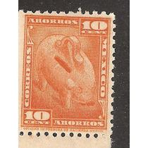 Estampilla 10 Cts Ahorro Postal Formato Grande Años 30´s