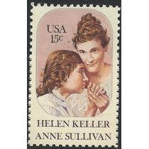1980 Estados Unidos Helen Keller Escritora Sordo Ciega Nuevo