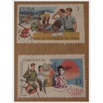 4 Timbres Postales - Conmemorativos Al Trabajo - Cuba 69